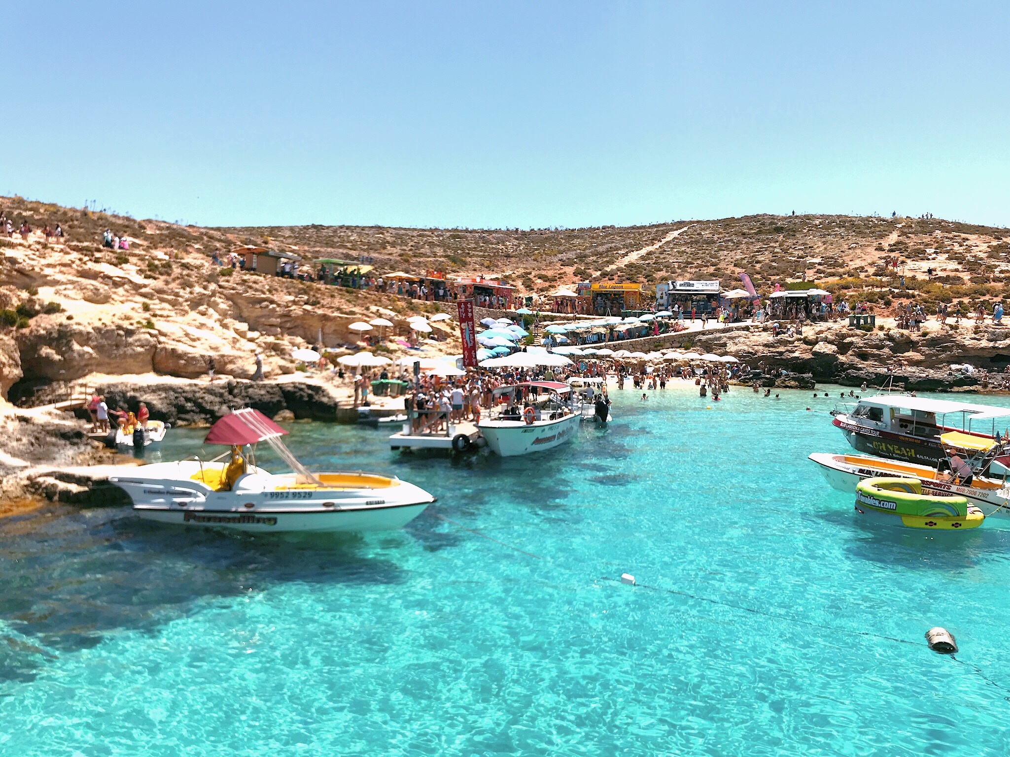 The blue lagoon, island of Comino in Malta