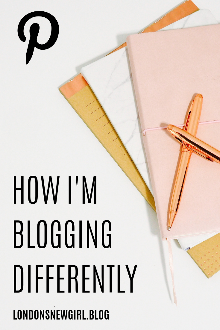 Pinnable graphic; how I'm blogging differently this time!